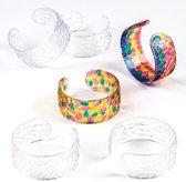 Kristallen armbanden met moza?ek  (6 stuks per verpakking)