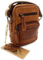 Hill Burry - VB100110 - 3245 - echt leren - schoudertas – crossbodytas- stevig - vintage leder- bruin /cognac