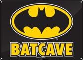 Batcave Metalen wandbord 15 x 21 cm.