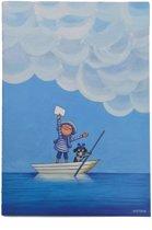 """Notitieboekje/dagboek """"Sailor"""" – Blauw/Wit"""