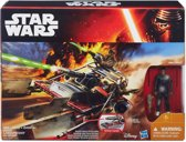 Star Wars Desert Landspeeder + Finn (Jakku) (Episode VII) - actiefiguur met voertuig
