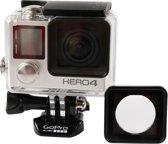 Waterdichte hoes vervangende lensring met schroeven en schroevendraaier voor GoPro HERO4 / 3+ (zwart)