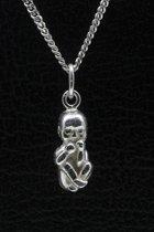 Zilveren Baby ketting hanger