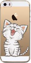 Apple Iphone 5 / 5S / SE Siliconen hoesje (katje)