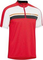 Gonso Gonso Borax  Fietsshirt - Maat XL  - Mannen - rood/wit/zwart
