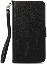 Shop4 - iPhone Xr Hoesje - Wallet Case Dromenvanger Zwart