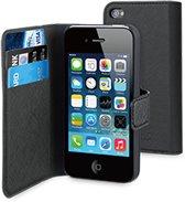Muvit Wallet Case iPhone 4 / 4s - zwart