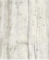 Faux Semblant hout beige behang (vliesbehang, beige)