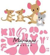 Marianne Design Collectables Eline's Muizenfamilie
