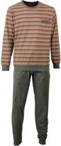 Paul Hopkins Heren Pyjama Streep Grijs - Rood Maten: XL