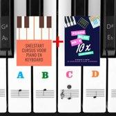 Piano keyboard stickers - Gekleurd toetsen - Inclusief 2 E-books - Lesboek - Bladmuziek - 88 toetsen
