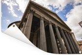 Ondersteunende pilaren aan de voorkant van het Pantheon in Rome Tuinposter 90x60 cm - Tuindoek / Buitencanvas / Schilderijen voor buiten (tuin decoratie)