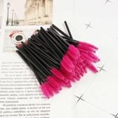 25 stuks Mascara borstel - Wenkbrauw borstel - Make-up - Eyebrush - Verzorging - Cosmetica - Roze - Zwart