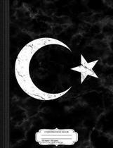 Vintage Flag of Turkey Composition Notebook