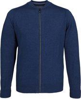 Casa Moda heren vest katoen - jeans blauw (met rits) -  Maat XL