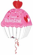 Ultrashape Sweet Valentine Cupcake Foil Balloon P40 packed 40 x 60cm