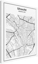 Stadskaart klein - Utrecht canvas 30x40 cm - Plattegrond