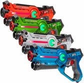 4x Light Battle lasergame speelgoedpistool | groen, oranje, blauw, wit
