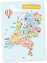 poster   Nederland, provincies & hoofdsteden
