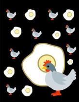 Chicken And Eggs Notebook Journal 150 Page College Ruled Pages 8.5 X 11