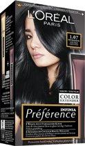 L'Oréal Paris Préférence Haarverf - 1.07 Ultra Zwart - Color extender