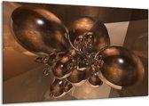 Canvas schilderij Abstract | Bruin, Goud | 120x70cm 1Luik
