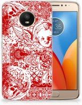 Motorola Moto E4 Plus TPU Hoesje Design Angel Skull Red
