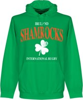 Ierland Rugby Hooded Sweater - Groen - M