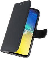 Samsung S10 E hoesje - Bookcase - zwart - pasjes
