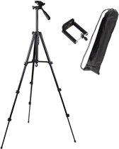 Statief voor smartphone - Statief voor fotocamera - verstelbaar - tot 140 cm hoog - statief voor telefoon