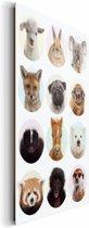 Jonge dieren - Schilderij 60 x 90 cm