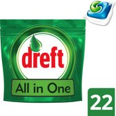 Dreft All in One Original - 22 Stuks - Vaatwastabletten
