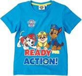 Paw Patrol T-shirt met korte mouw - blauw - Maat 116