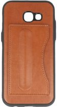 Standing TPU Wallet Case voor Samsung Galaxy A5 2017 Bruin