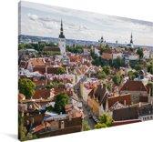Het Stadshart van Tallinn vanaf een heuvel in Estland Canvas 60x40 cm - Foto print op Canvas schilderij (Wanddecoratie woonkamer / slaapkamer)