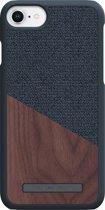 Nordic Elements Frejr backcover voor Apple iPhone 6/7/8 -  Walnoot hout / donkergrijs textiel