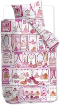 Beddinghouse Kids Princess Wardrobe - kinderdekbedovertrek - eenpersoons - 140x200/220 - Pink