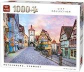 King Puzzel 1000 Stukjes (68 x 49 cm) - Rothenburg - Legpuzzel - Duitsland - Volwassenen