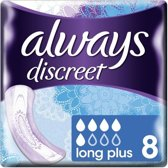 Always Maandverband - Discreet Long Plus 8 Stuks