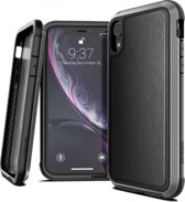 X-Doria Defense Lux cover - black leather - for iPhone Xr