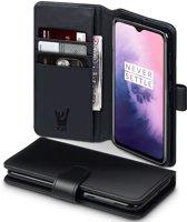 OnePlus 7 Hoesje - Portemonnee Hoesje Book Case - iCall - Zwart