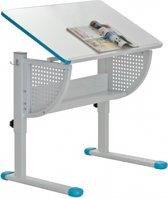 hjh office Smile - Kinderbureau - In hoogte en hoek verstelbaar - Blauw/ wit