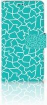 Nokia 8 Boekhoesje Design Cracks Blue