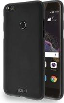Azuri flexibele cover met zand textuur - zwart - voor Huawei P8 Lite 2017