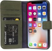 Decoded Leather Wallet Case met magneet sluiting voor iPhone X/ Xs Groen