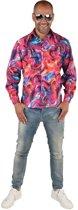 Feesten & Gelegenheden Kostuum | Psychedelische Draaikolken Hemd Roze Man | XL | Carnaval kostuum | Verkleedkleding