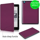 Lunso - sleepcover flip hoes - Kobo Aura edition 2 (6) - paars