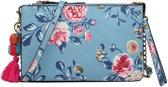 Miss Lulu Pompom Pendant Floral Shoulder Handbag (LG6803 BE)
