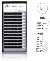 Dermarolling Exclusive Silk Mink Wimperextensions Krultype D - Dikte 0.18 - Lengte 7mm.