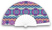 Festival waaier - handwaaier - Spaanse waaier - Ibiza aztec